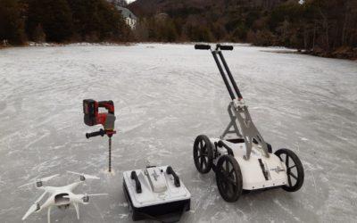 Midiendo espesores de hielo en Ushuaia con georadar Crossover, ImpulseRadar